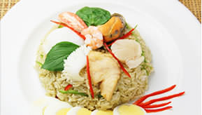 Green curry fried rice ¥1,300